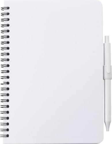 Antibakteriell anteckningsbok med penna