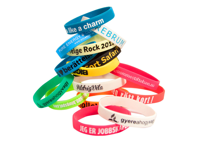 Silicone bracelet 25 mm (printed logo)