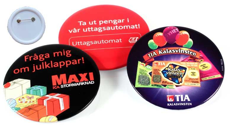 Kampanjknappar (55 mm Ø)