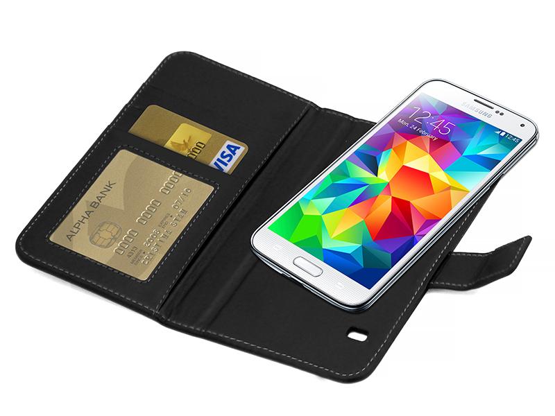 Plånboksfodral i läder (Samsung)
