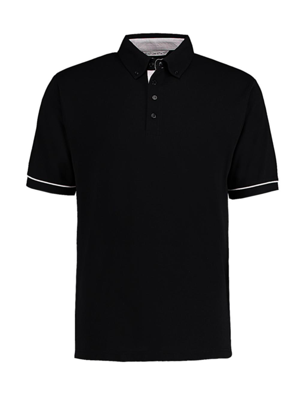 Button Down Collar Contrast Polo
