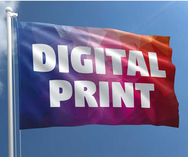 Digital printed flag (200 x 125 cm)