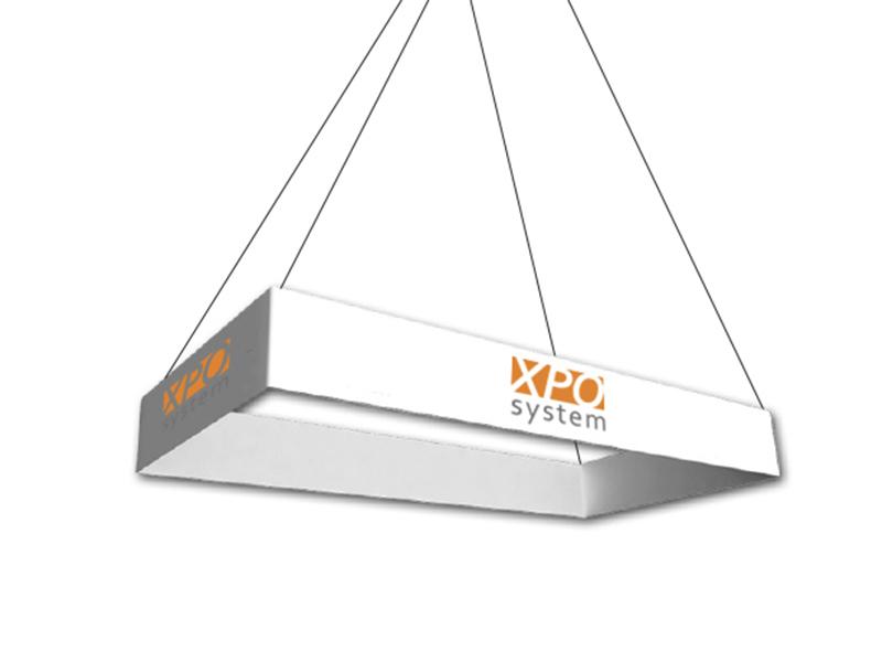 Rektangular ceiling banner (600x300x120 cm)