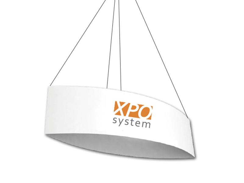 Oval ceiling banner (300 cm, H 105 cm)