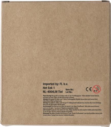 Cardboard box with chalk