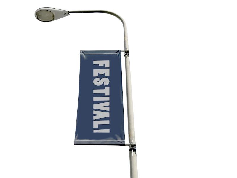 Street banner flagga 60x200 cm