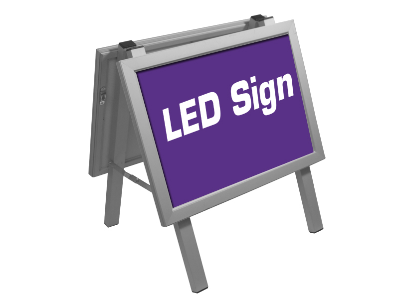 Poster sign Alu stand LED  A3