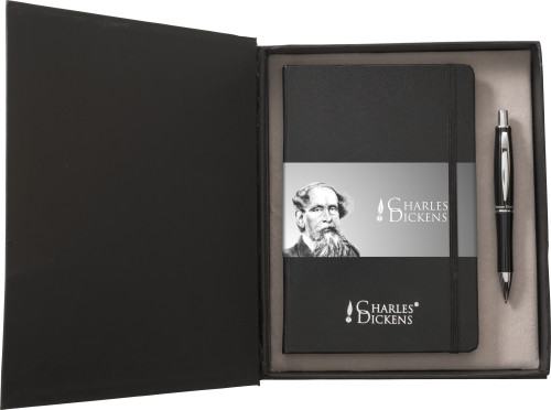 Aluminium Charles Dickens® writing set