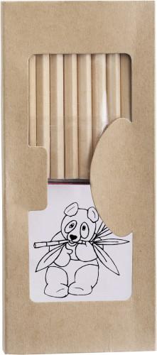 Tegnesett med blyanter, linjal, spisser og blokk