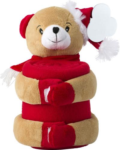 Mjukdjur i jultema med filt