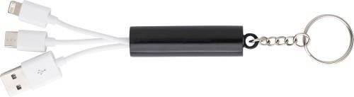 3-i-1 laddningskabel och nyckelhållare i ABS