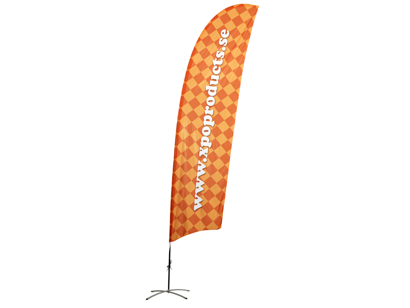 Beach flag Concave double side print (XL)