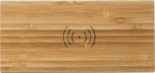 Bamboo wireless charger and clock