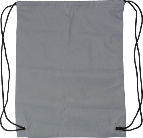 Synthetic fibre (190D) reflective drawstring backpack