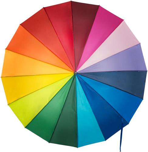 Flerfärgat paraply, manuell öppning