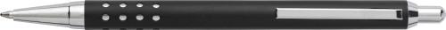 Kulspetspenna i aluminium med tryckknapp och topp