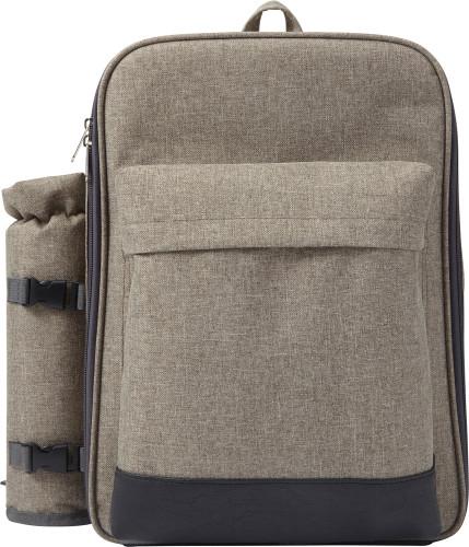 Stabil picknick-ryggsäck med flaskhållare, i polyester (600D)