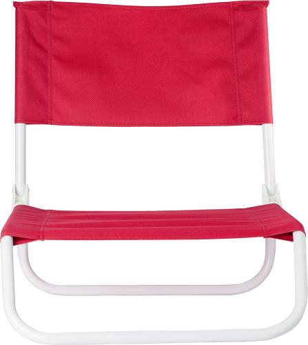 Hopfällbar strandstol med stålram, PVC (600D)