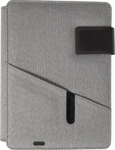Dokumentmapp (A5) i polyester med integrerad powerbank 4000 mAh