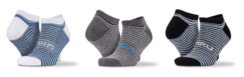 3-Pack Mixed Stripe Sneaker Socks