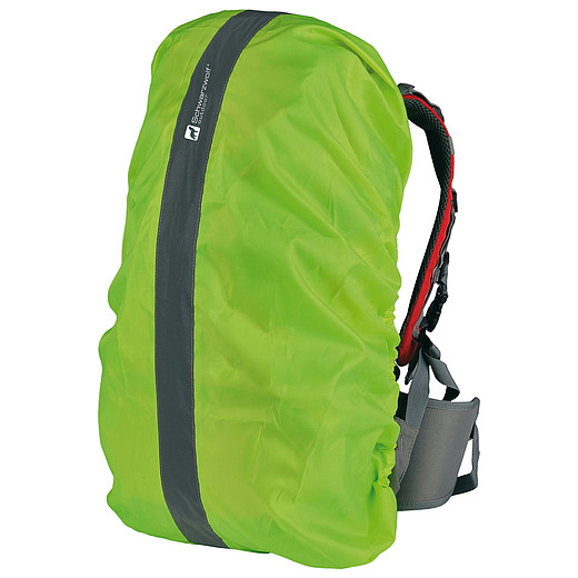 SCHWARZWOLF PIOVERE Highly visible waterproof yellow cloak for backpack
